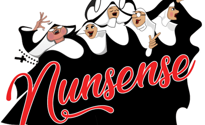 5 Happy Nuns with title: Nunsense